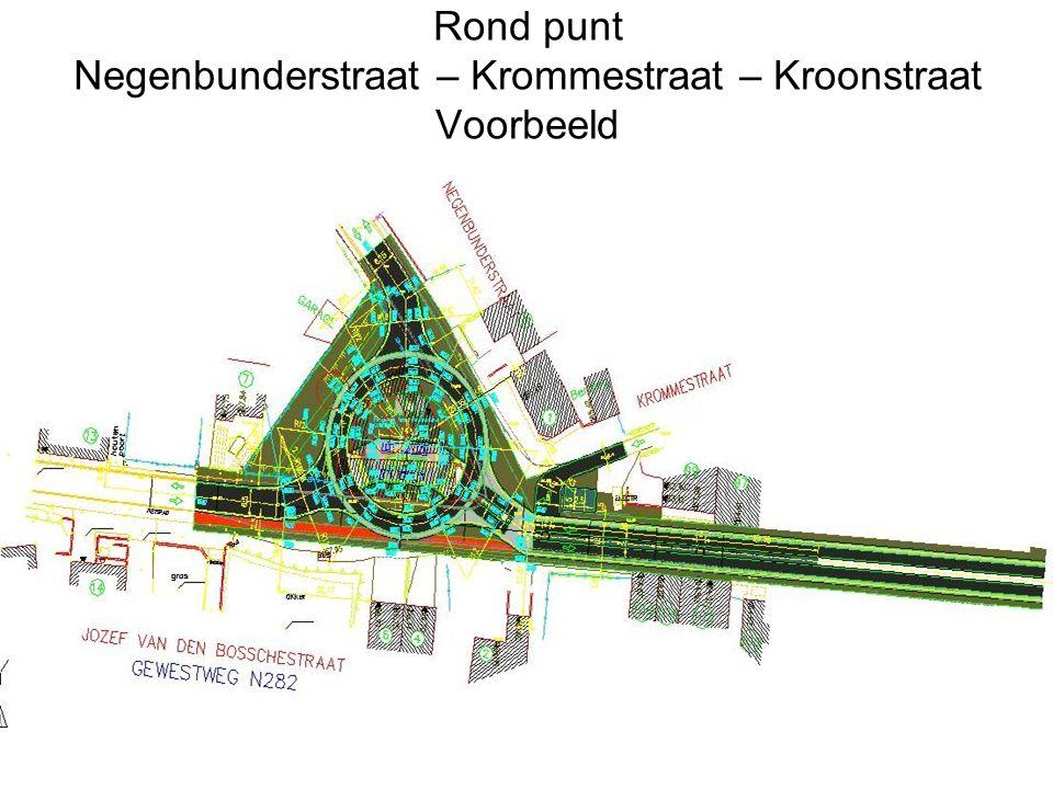 Rond punt Negenbunderstraat – Krommestraat – Kroonstraat Voorbeeld