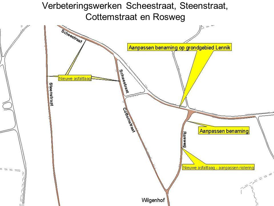 Verbeteringswerken Scheestraat, Steenstraat, Cottemstraat en Rosweg