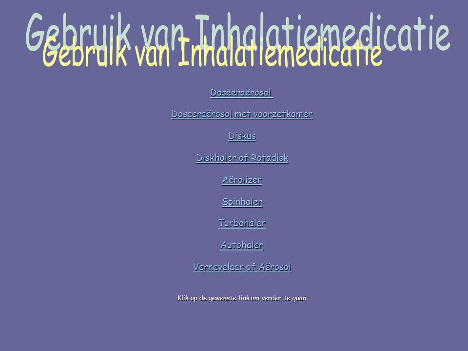 Gebruik van Inhalatiemedicatie