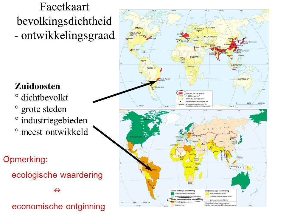 Facetkaart bevolkingsdichtheid - ontwikkelingsgraad