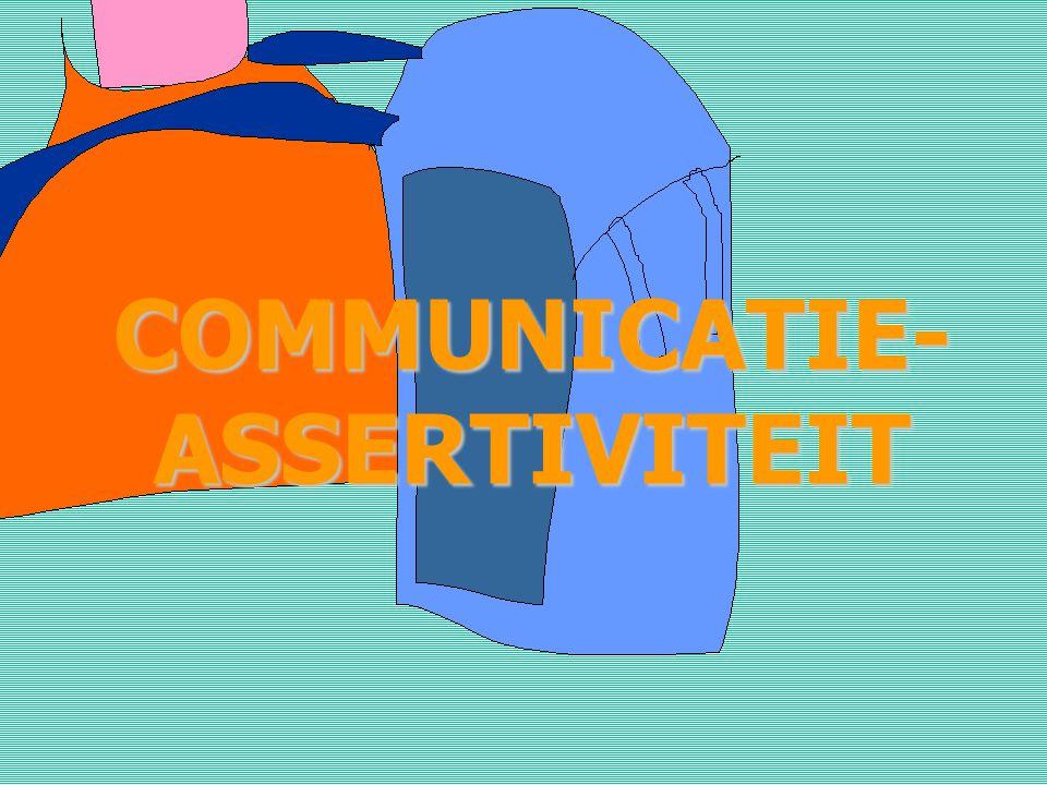 COMMUNICATIE-ASSERTIVITEIT