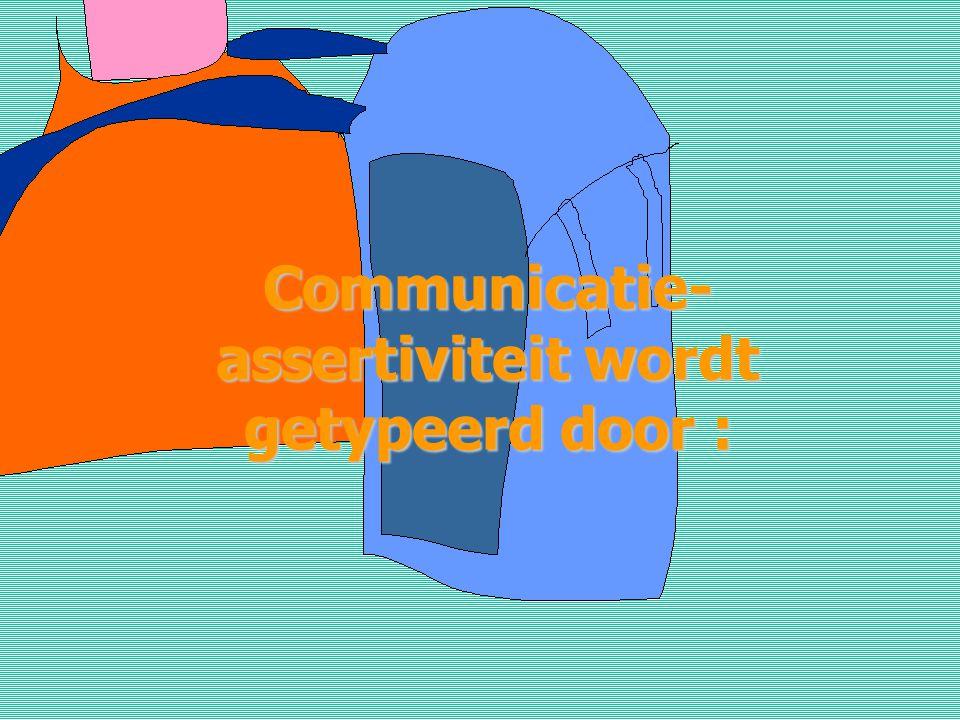Communicatie-assertiviteit wordt getypeerd door :