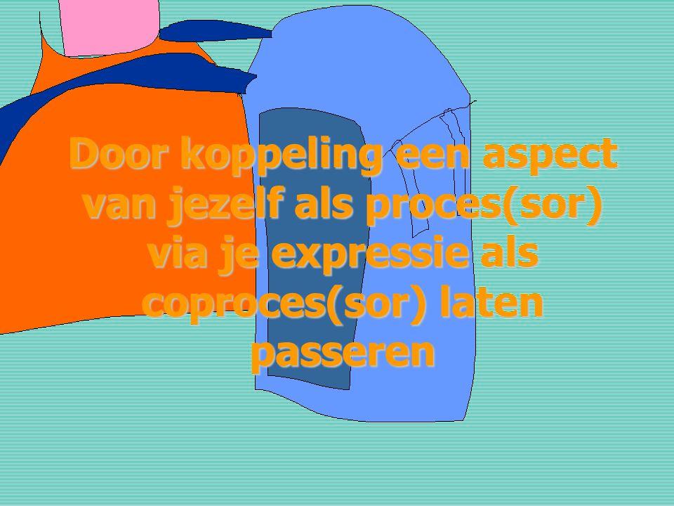 Door koppeling een aspect van jezelf als proces(sor) via je expressie als coproces(sor) laten passeren