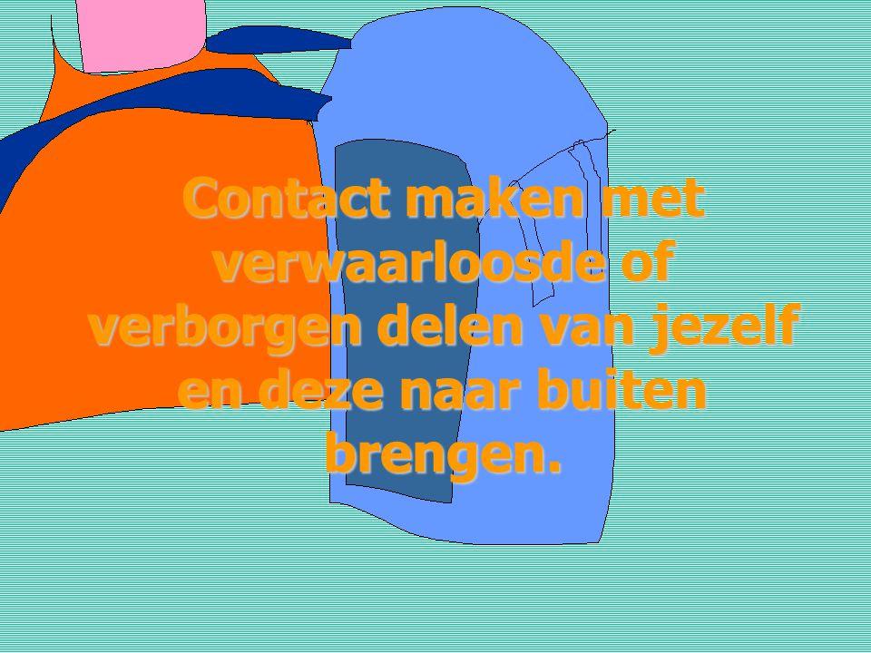 Contact maken met verwaarloosde of verborgen delen van jezelf en deze naar buiten brengen.