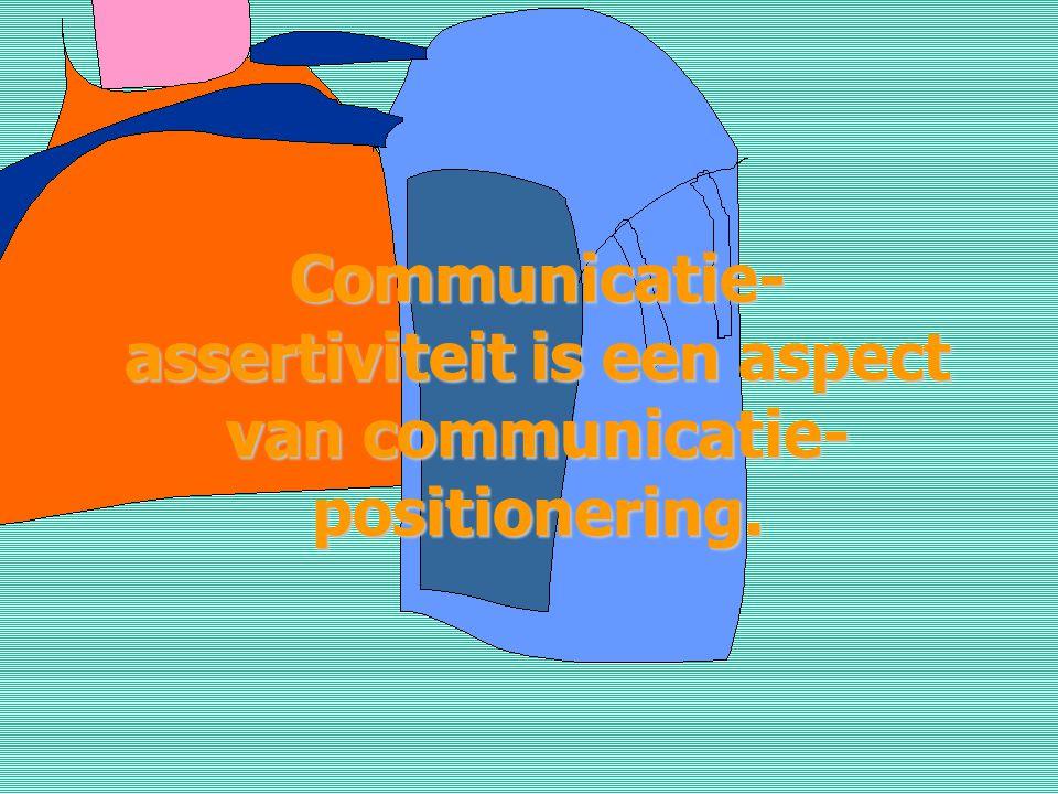 Communicatie-assertiviteit is een aspect van communicatie-positionering.