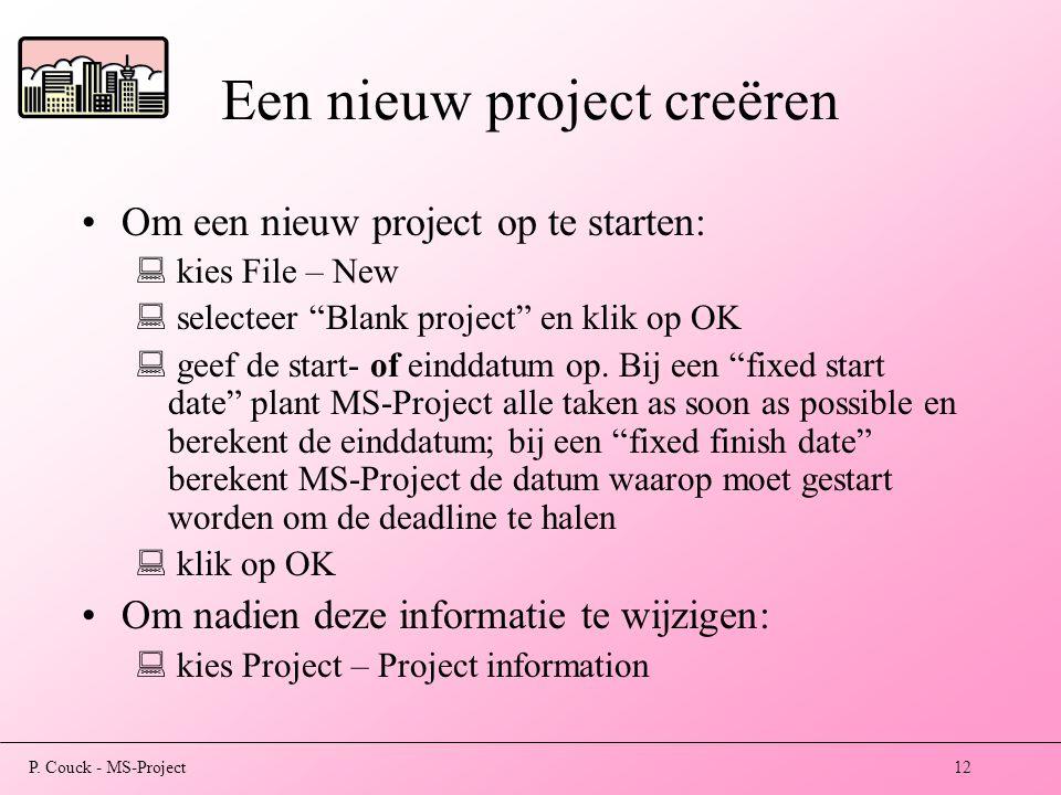 Een nieuw project creëren