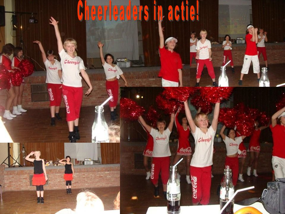Cheerleaders in actie!