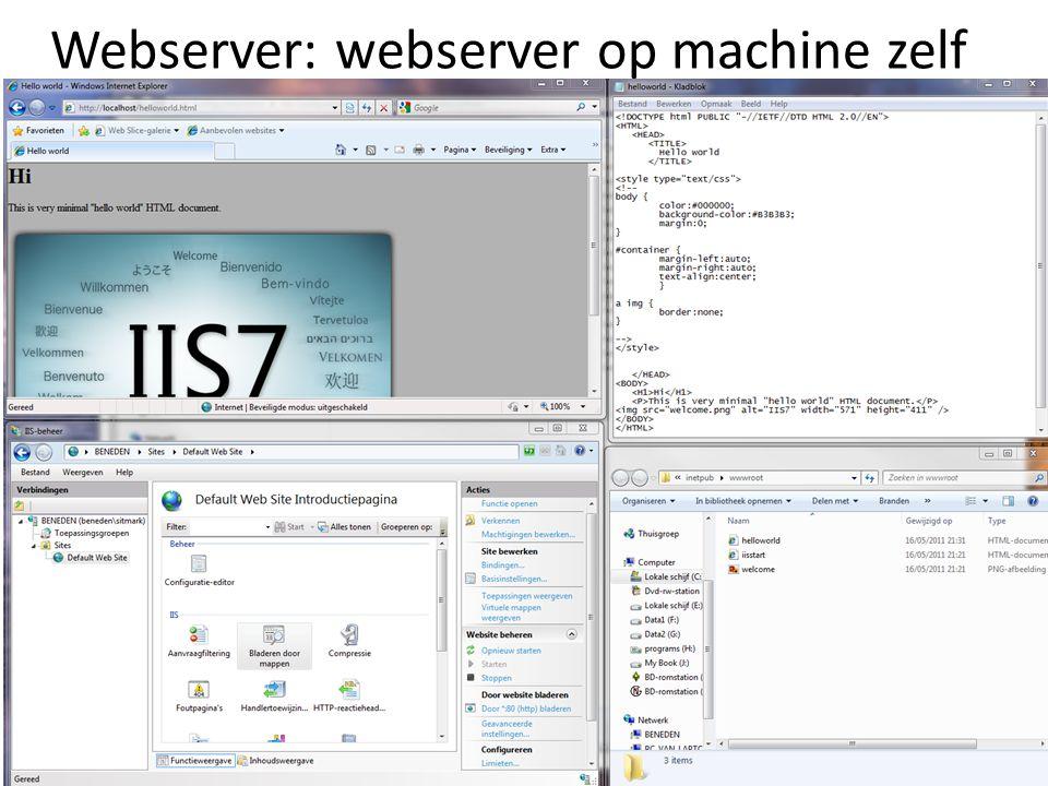 Webserver: webserver op machine zelf