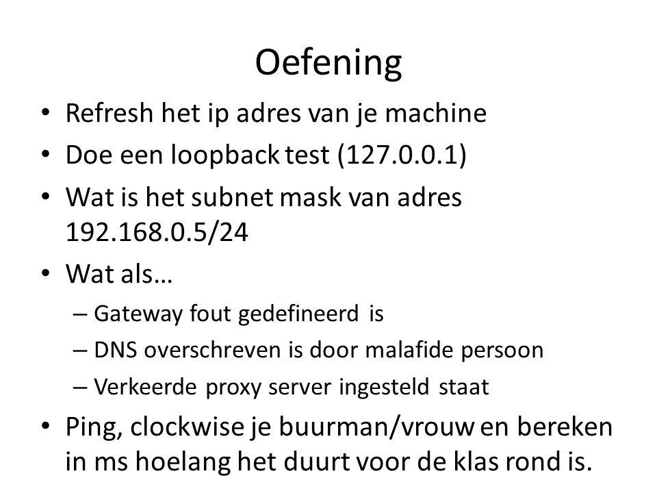 Oefening Refresh het ip adres van je machine