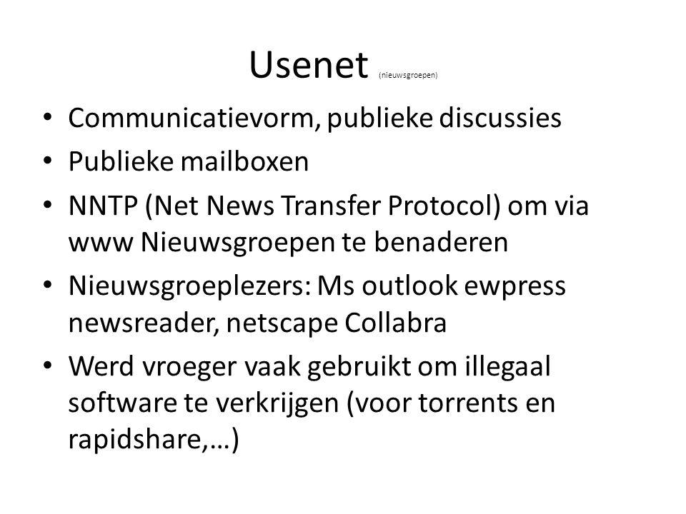 Usenet (nieuwsgroepen)