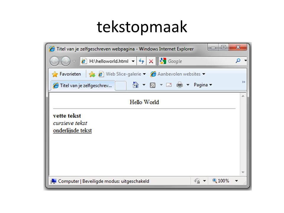 tekstopmaak