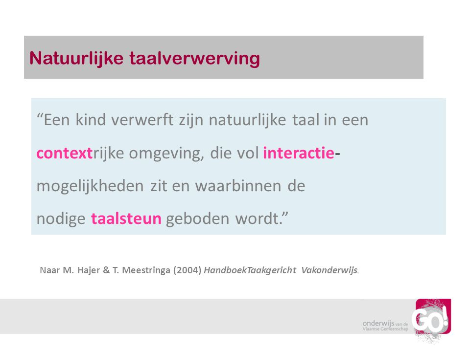 Natuurlijke taalverwerving