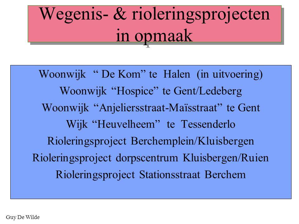 Wegenis- & rioleringsprojecten in opmaak