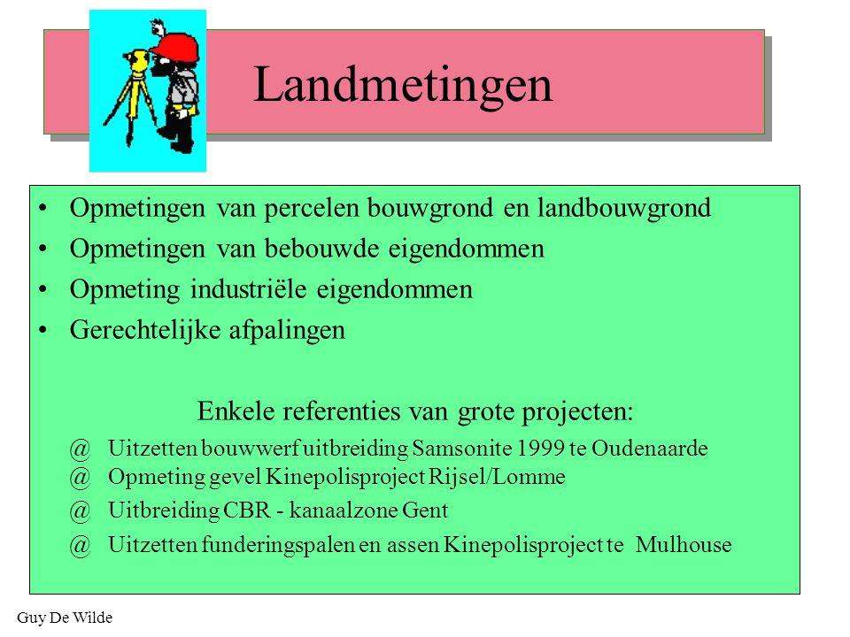 Landmetingen Opmetingen van percelen bouwgrond en landbouwgrond