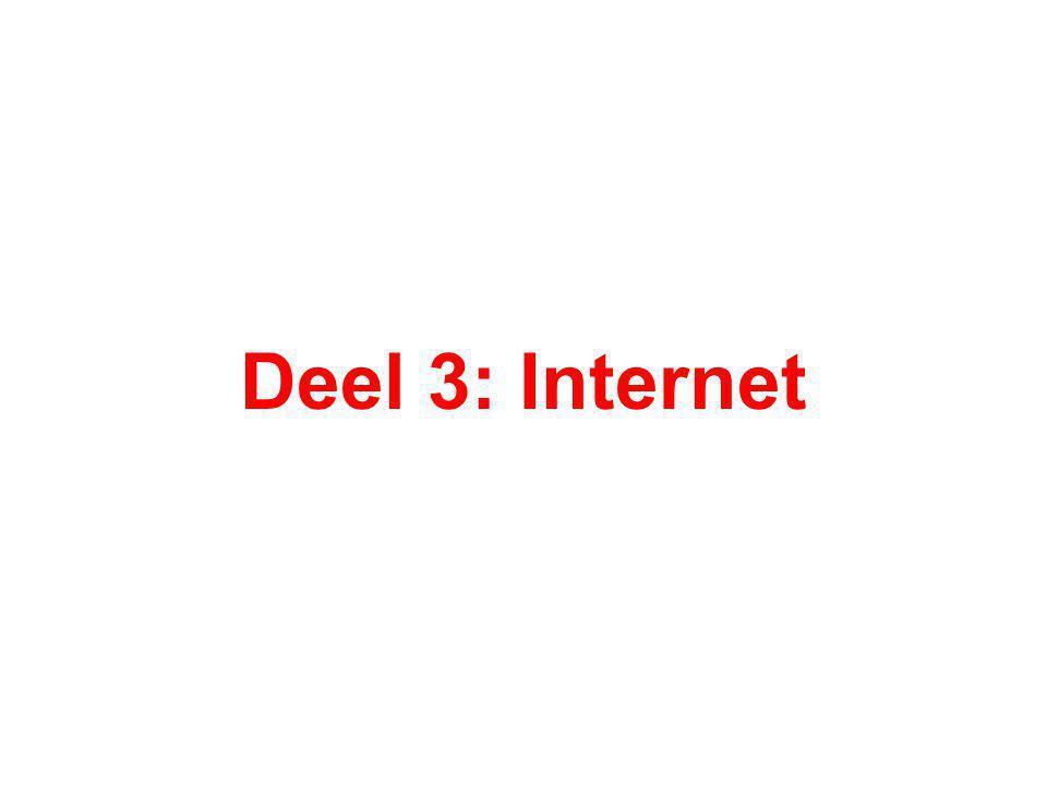 Deel 3: Internet