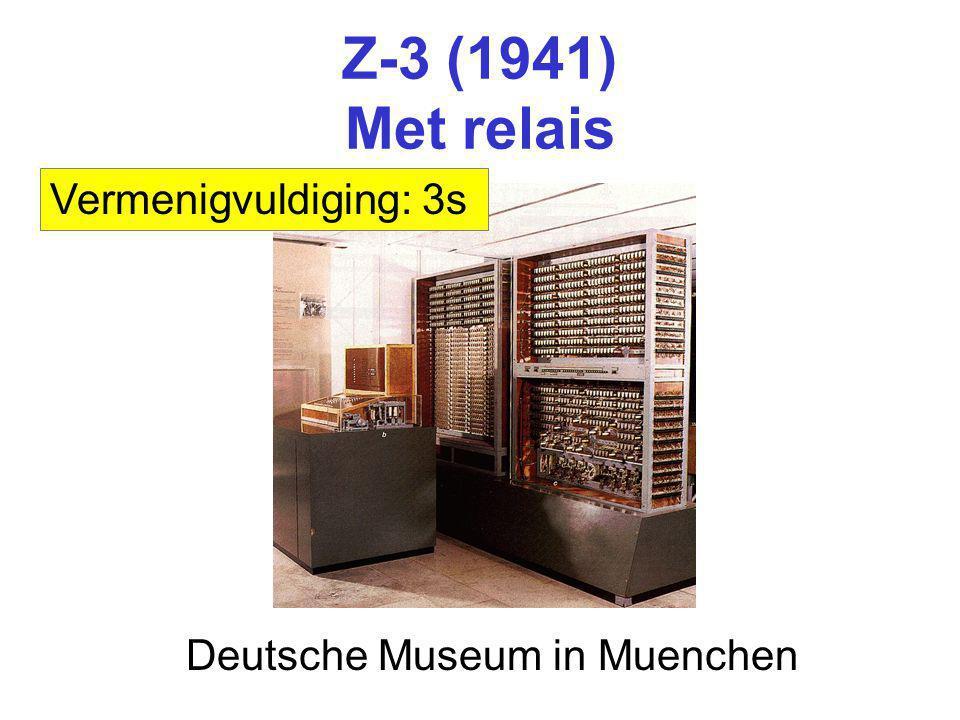 Z-3 (1941) Met relais Vermenigvuldiging: 3s