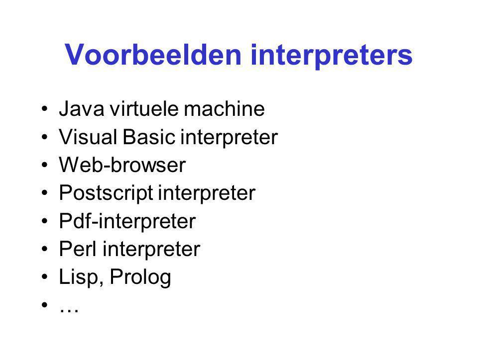 Voorbeelden interpreters