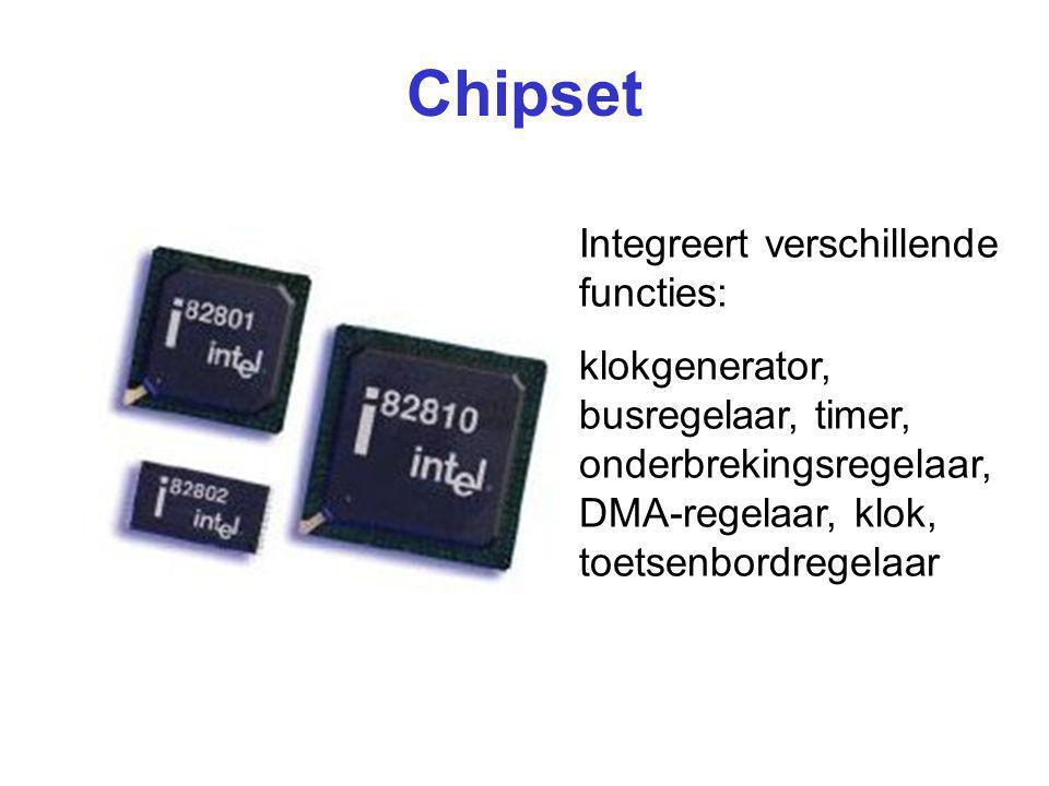 Chipset Integreert verschillende functies:
