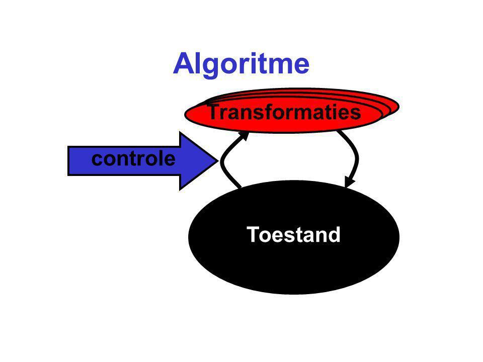 Algoritme Transformaties controle Toestand