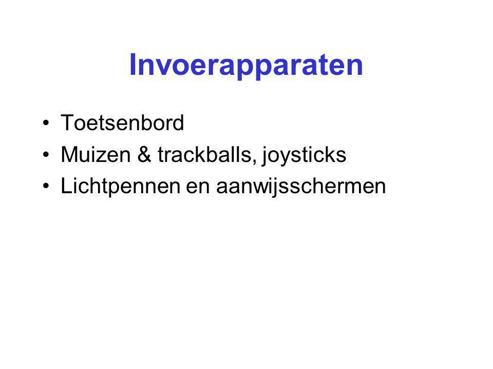 Invoerapparaten Toetsenbord Muizen & trackballs, joysticks