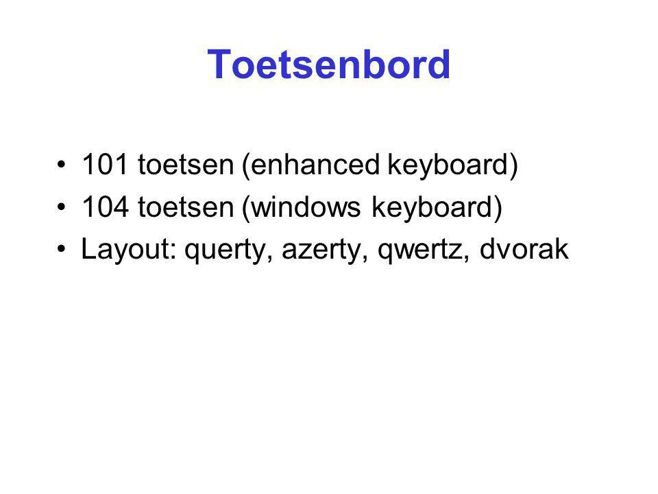 Toetsenbord 101 toetsen (enhanced keyboard)