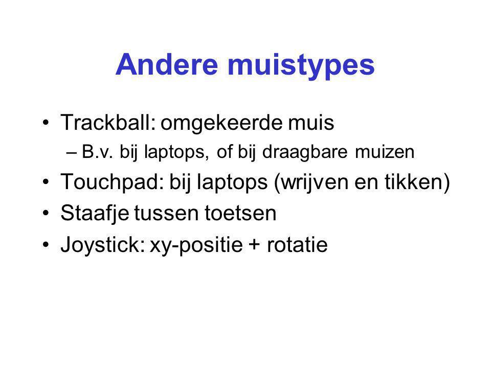 Andere muistypes Trackball: omgekeerde muis