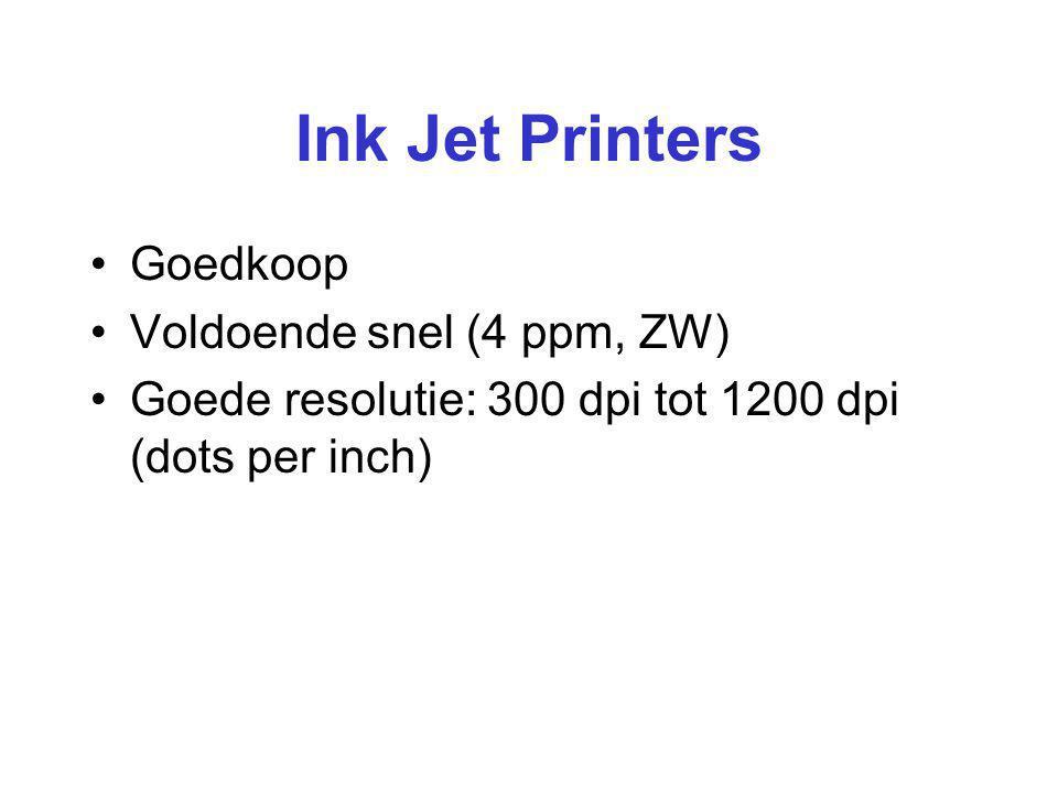 Ink Jet Printers Goedkoop Voldoende snel (4 ppm, ZW)