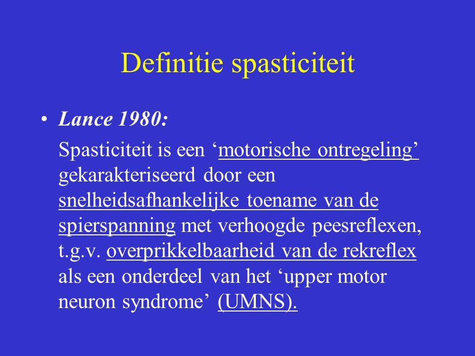 Definitie spasticiteit