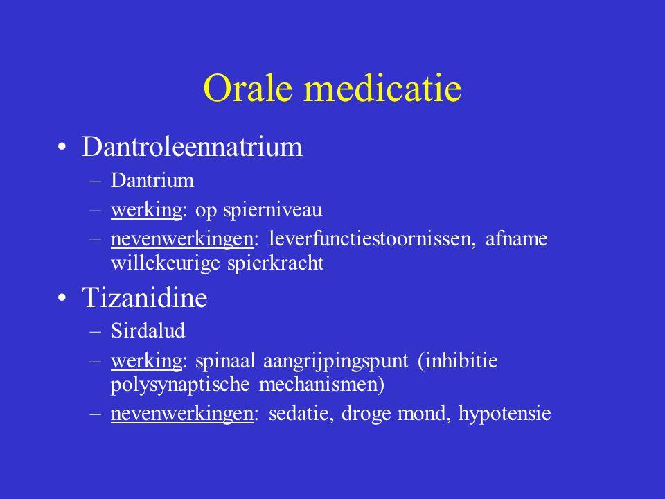 Orale medicatie Dantroleennatrium Tizanidine Dantrium