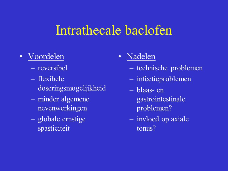 Intrathecale baclofen