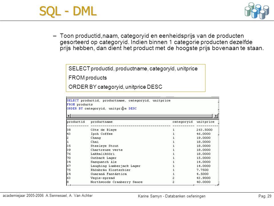 SQL - DML