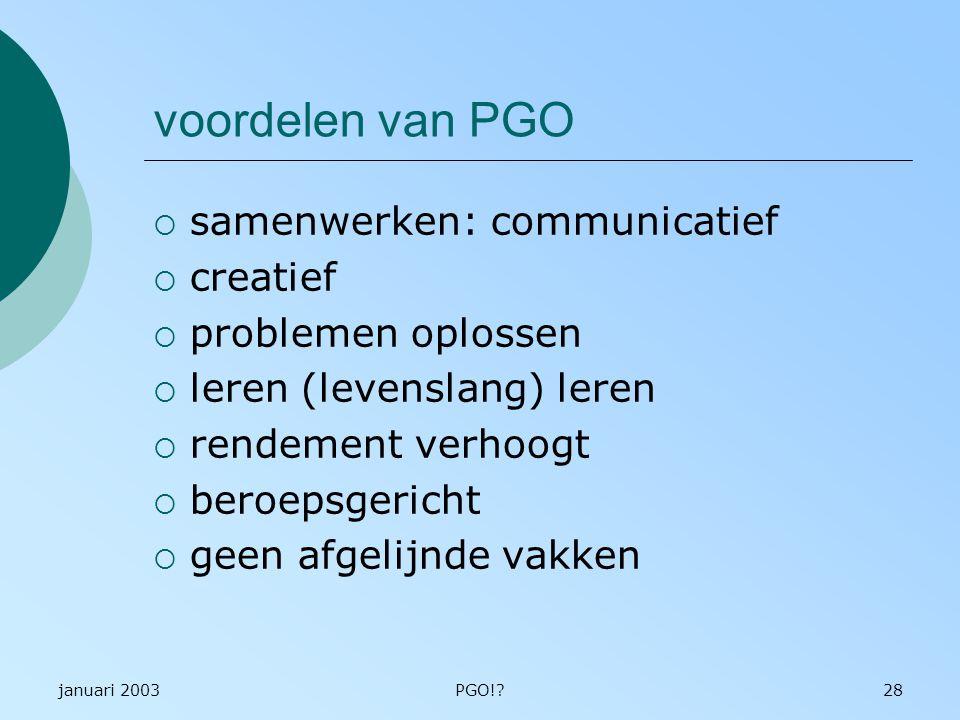 voordelen van PGO samenwerken: communicatief creatief