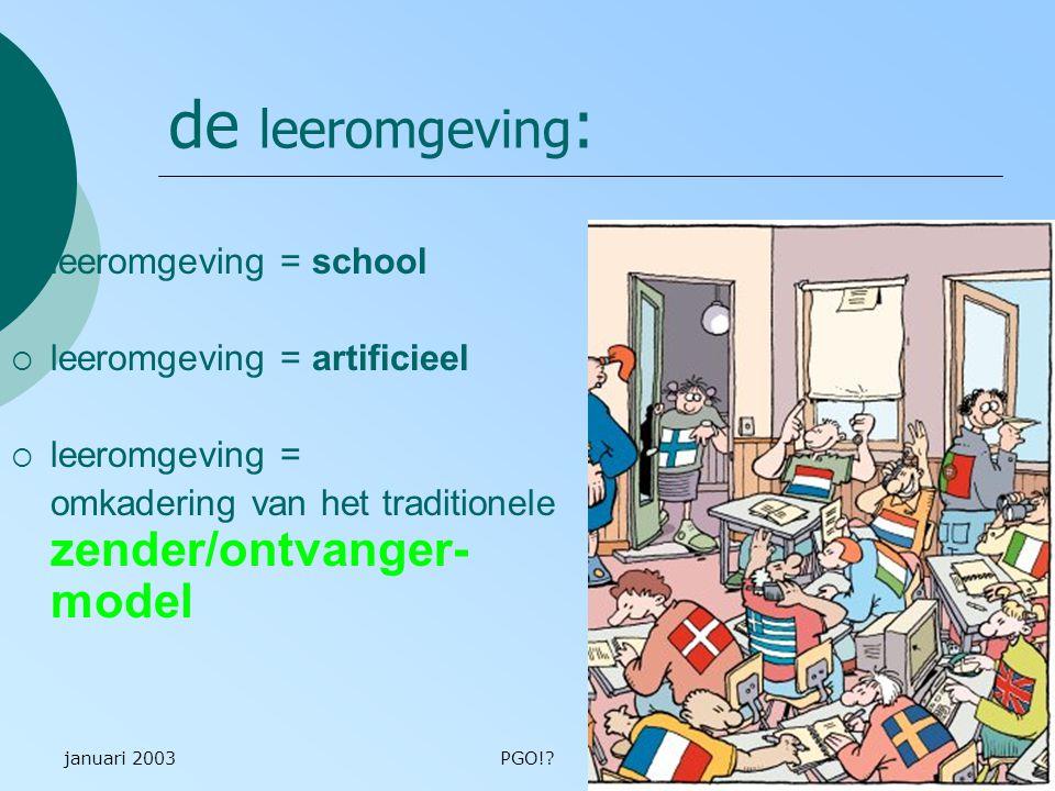 de leeromgeving: leeromgeving = school leeromgeving = artificieel