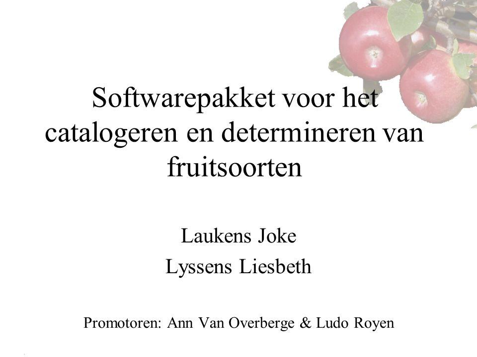 Softwarepakket voor het catalogeren en determineren van fruitsoorten