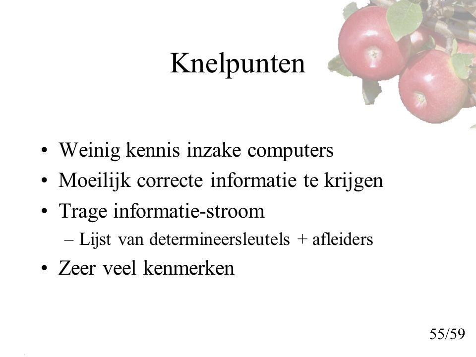 Knelpunten Weinig kennis inzake computers