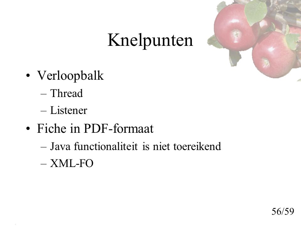Knelpunten Verloopbalk Fiche in PDF-formaat Thread Listener