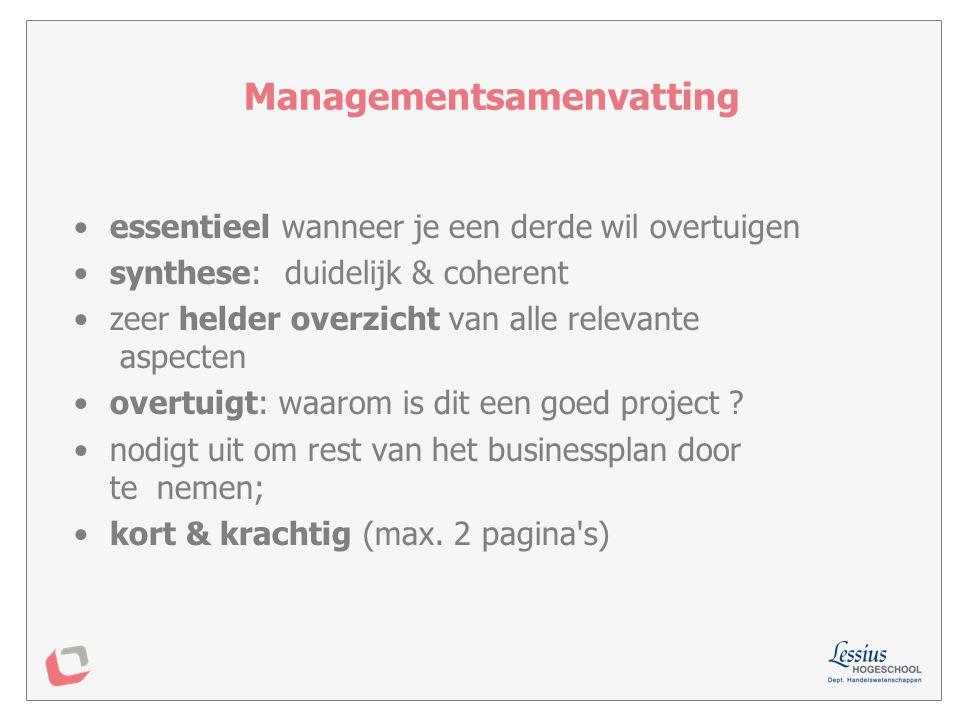 Managementsamenvatting