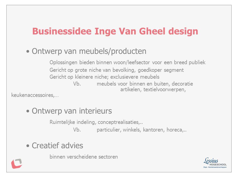 Businessidee Inge Van Gheel design