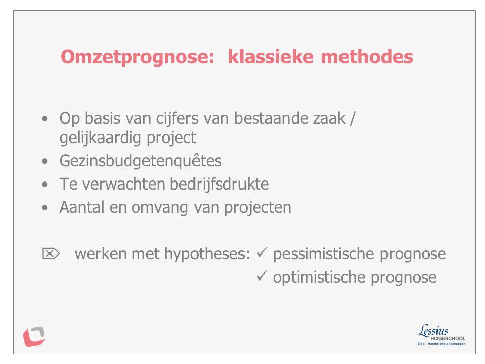 Omzetprognose: klassieke methodes