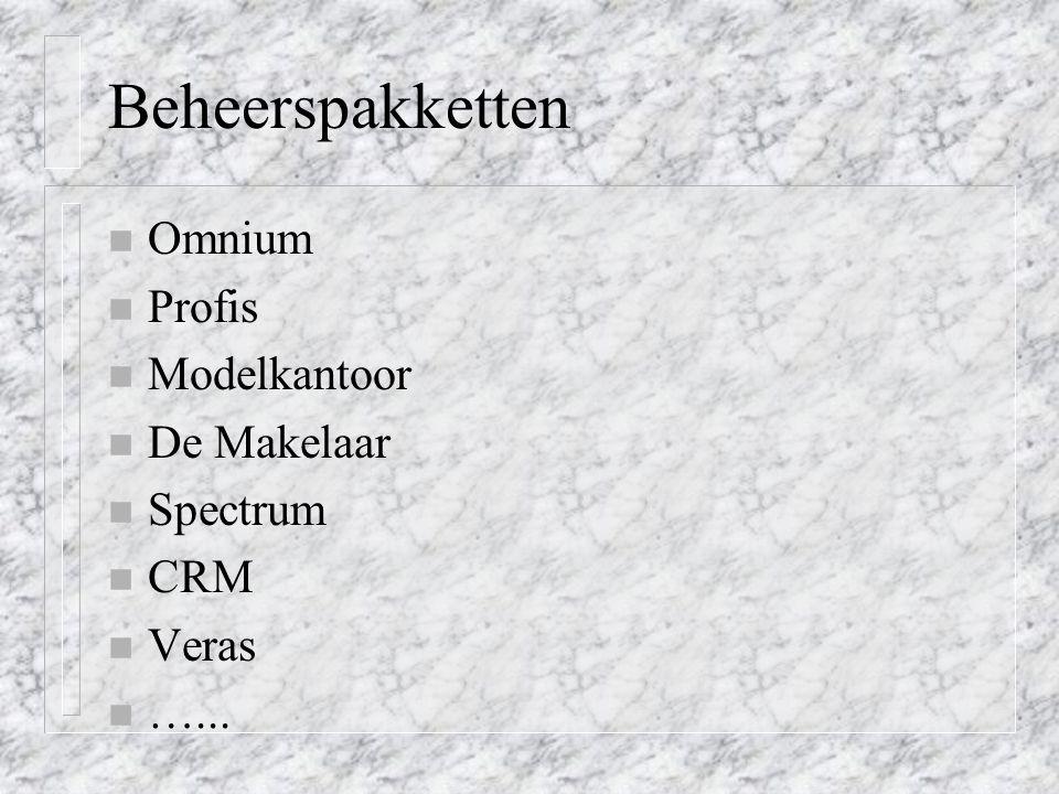 Beheerspakketten Omnium Profis Modelkantoor De Makelaar Spectrum CRM