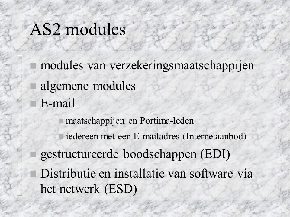 AS2 modules modules van verzekeringsmaatschappijen algemene modules