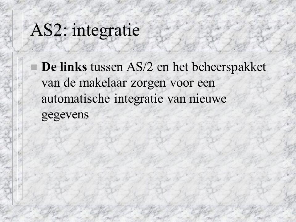 AS2: integratie De links tussen AS/2 en het beheerspakket van de makelaar zorgen voor een automatische integratie van nieuwe gegevens.