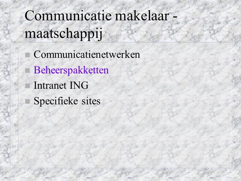 Communicatie makelaar - maatschappij