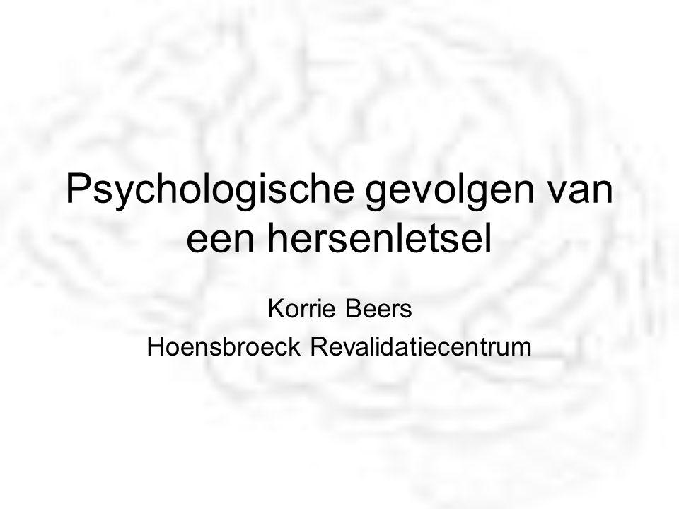 Psychologische gevolgen van een hersenletsel