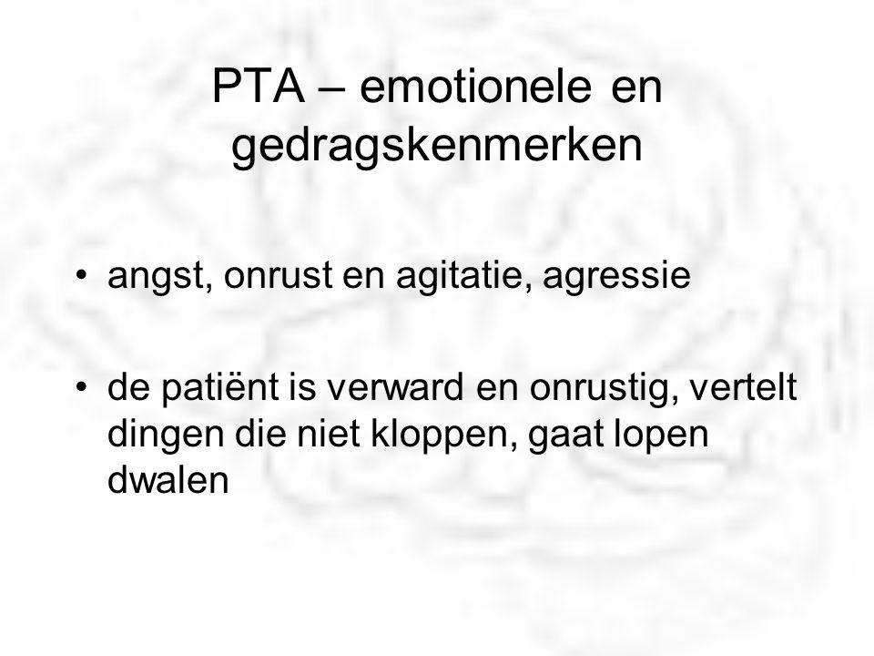 PTA – emotionele en gedragskenmerken