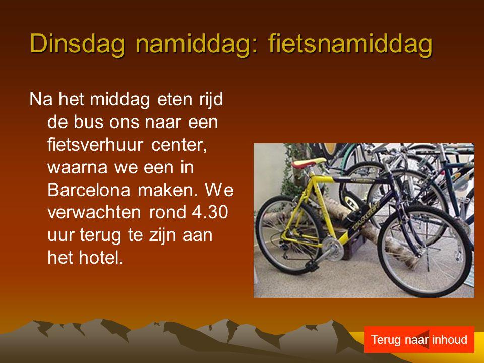 Dinsdag namiddag: fietsnamiddag