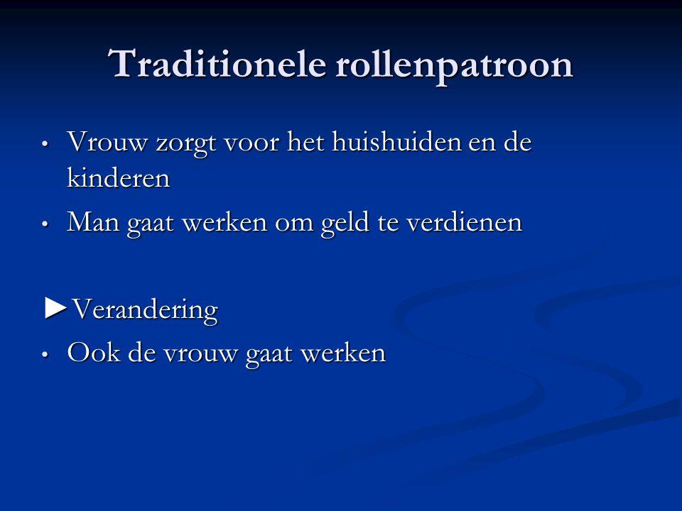 Traditionele rollenpatroon