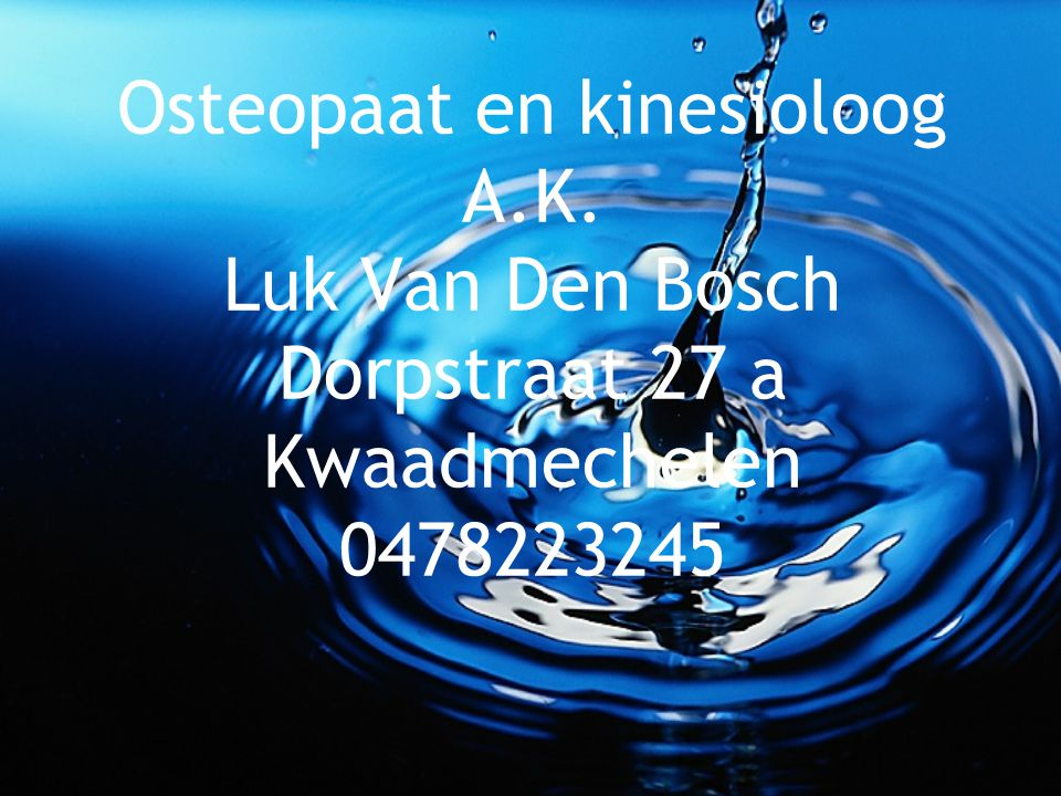 Osteopaat en kinesioloog A. K