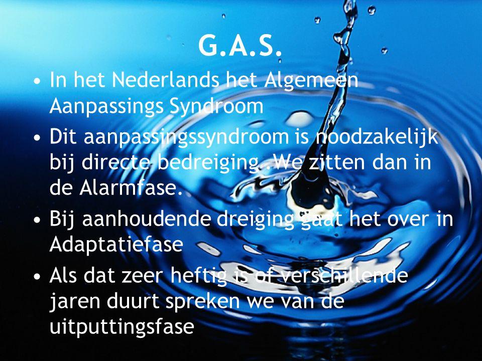 G.A.S. In het Nederlands het Algemeen Aanpassings Syndroom