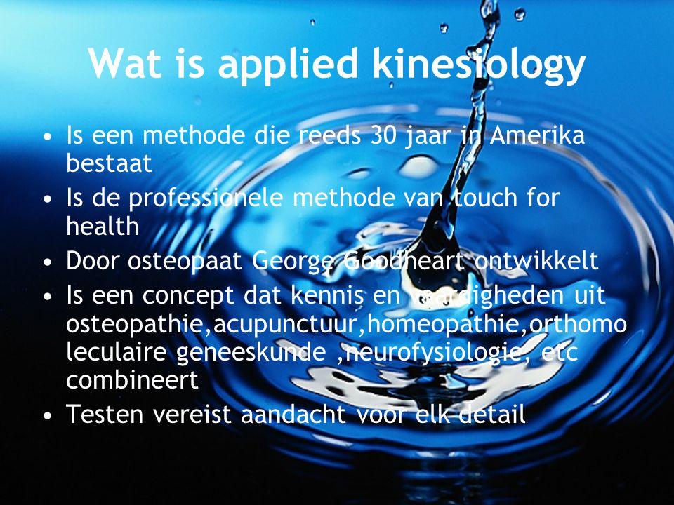 Wat is applied kinesiology